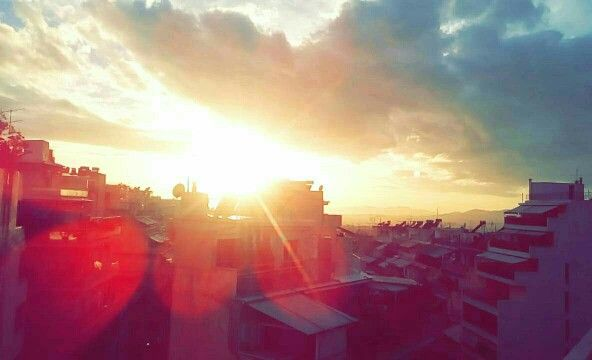Sunset at athens