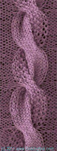 Knitting: Dual Cable - Stricken, Zopfmuster mit zwei verschiedenen Strickmustern