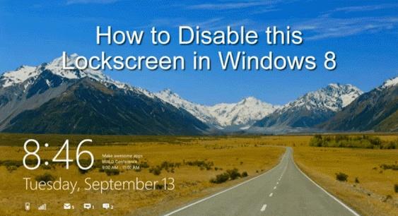 Windows 8 tampil dengan fitur yang mengagumkan yaitu layar Lock Screen, anda harus memasukkan nama dan password untuk masuk ke menu utama. Pada dasarnya, Fitur Lock Screen Windows 8 bertujuan sebagai dashboard, dan akan aktif dengan tanda layar berkedip saat pemberitahuan email baru, IM, dan sebagainya. ini dapat terlihat dari banyak tablet...  http://satutekno.blogspot.com/2013/05/cara-disable-fitur-lock-screen-di.html