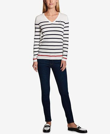 Image 3 of Tommy Hilfiger Striped Anchor Sweater, Created for Macy's