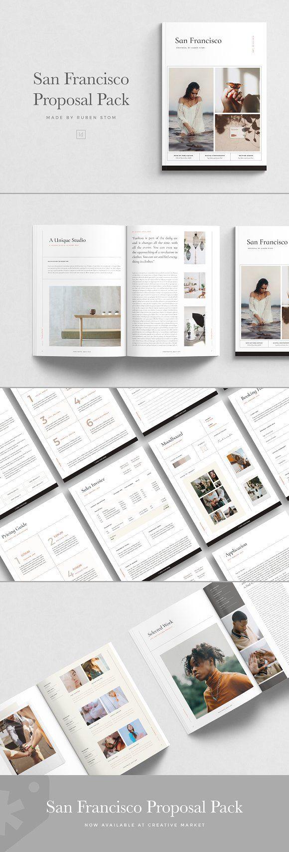 San Francisco Proposal Pack Indesign Templates Client Proposals Adobe Indesign Templates