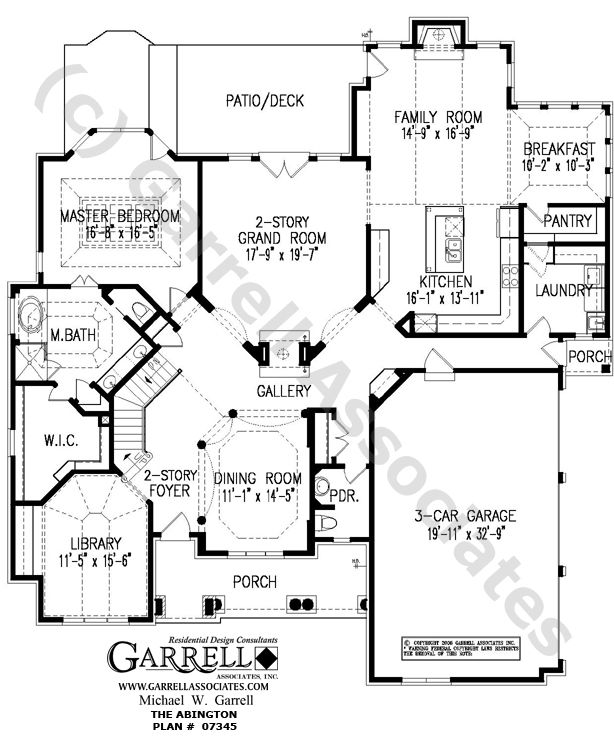Abington House Plan # 07345, 1st Floor Plan,Traditional Style House Plans,  Active Great Ideas