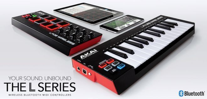LPK25 and LPD8 Wireless MIDI Controllers by AKAI