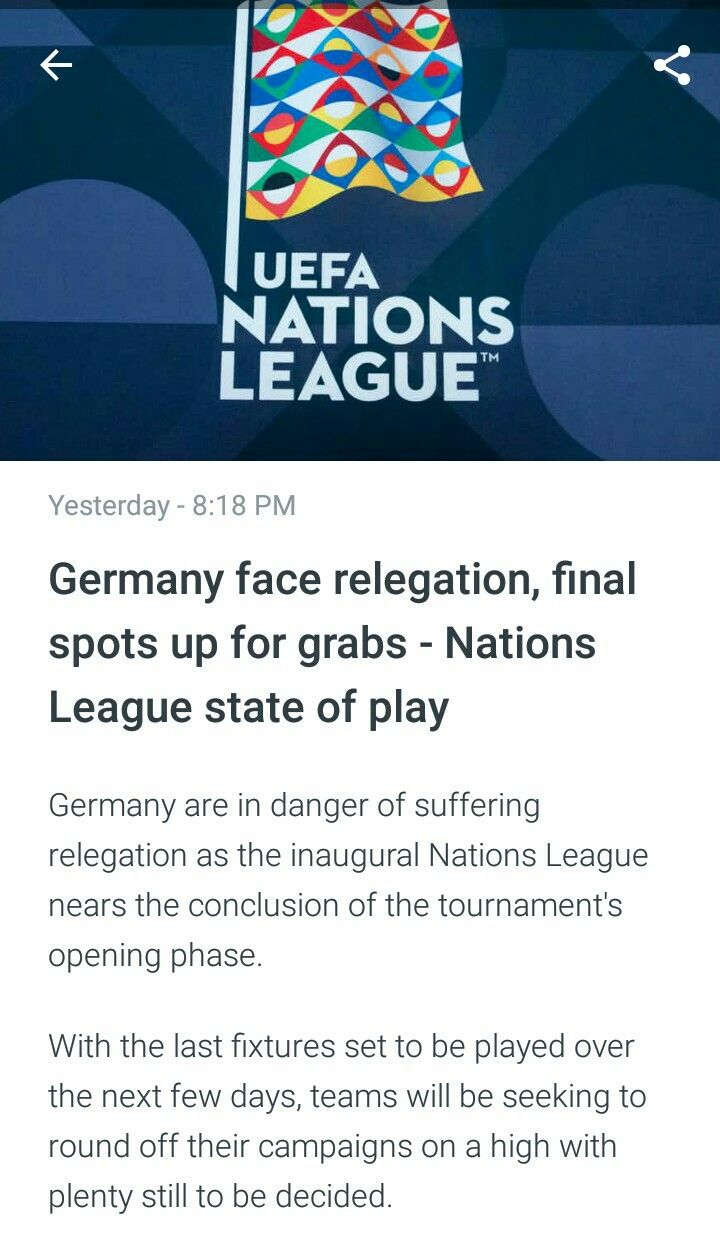 Uefa Nationsleague Germany State Of Play Germany League