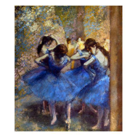 Degas: Blue Dancers, C1890 by Edgar Degas. Giclee print from Art.com.