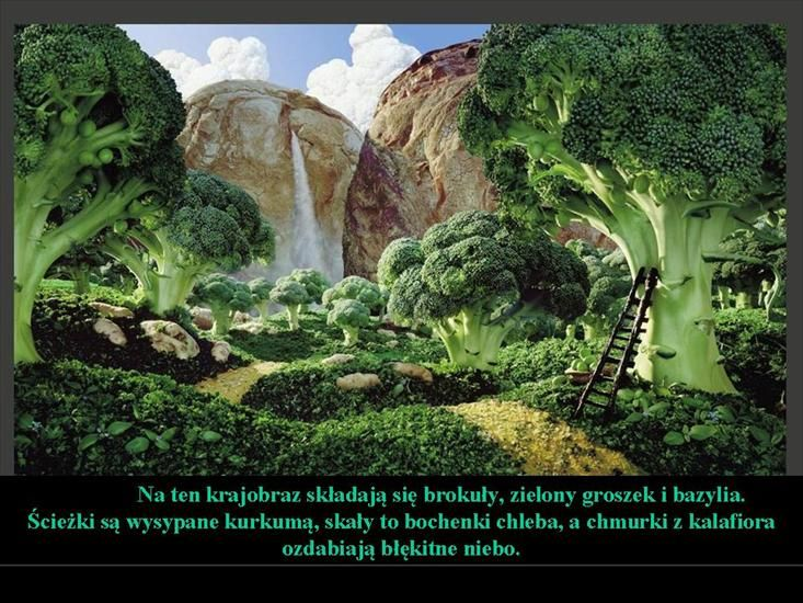 brokuły i groszek