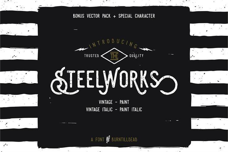 Image for Steelworks Vintage Demo Font free