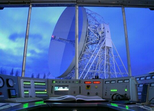 The Lovell Telescope viewed from the control room
