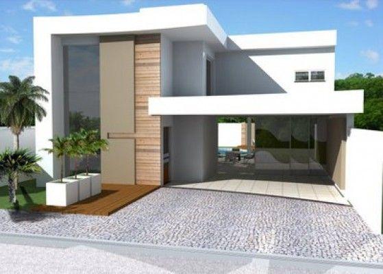 Fachada sobrado moderno sobrados pinterest for Ver fachada de casas modernas