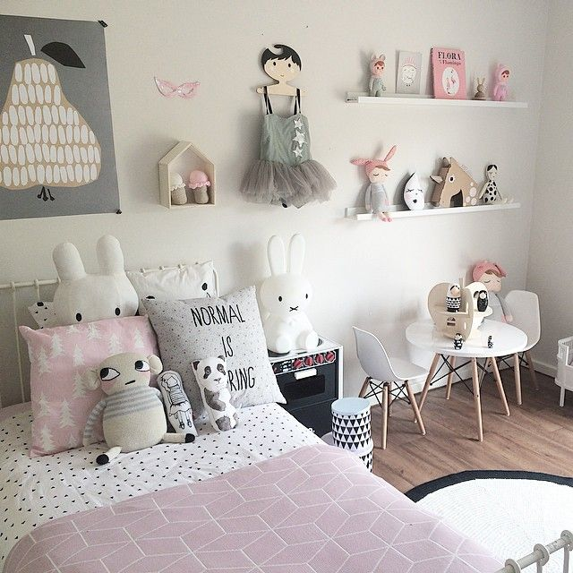 Little Girls Room Inspiration From Scandi Style Room Must Haves To Create  This Look Are The Miffy Table Lamp, Darling Clementine Pear Poster, ...