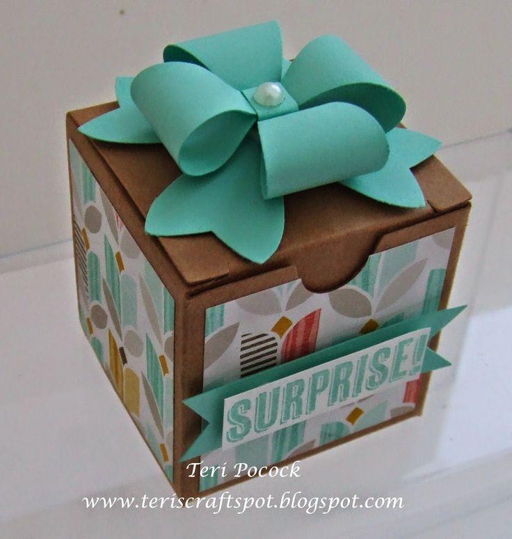 Stampin' Up! UK Demonstrator - Teri Pocock: Bow Builder Punch - Tiny Treat Box