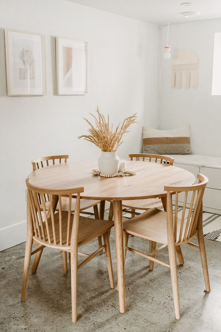 15++ Oak round dining table set Best Choice
