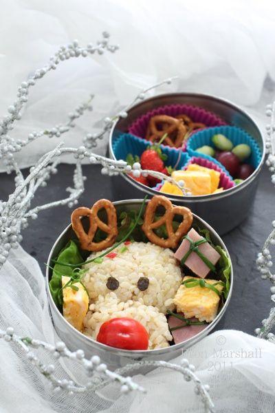 bento lunch, christmas bento, reindeer, reindeer bento