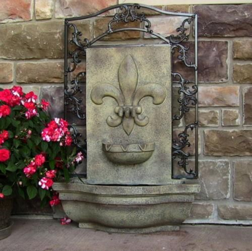 Made From A Lightweight Polystone Material, This Fountain Is Wonderful As  An Outdoor Wall Fountain