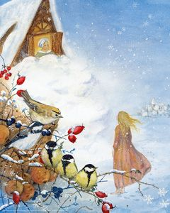 "Waldorf Winter Festivals & Holidays inspiration art. Daniela Drescher, ""Mother Holle"""