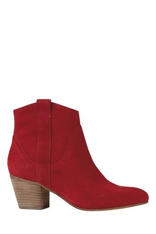 Buy Red Leather Western Boots from the Next UK online shop