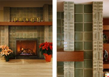 Accessible prairie style fireplace pinterest for Prairie style fireplace