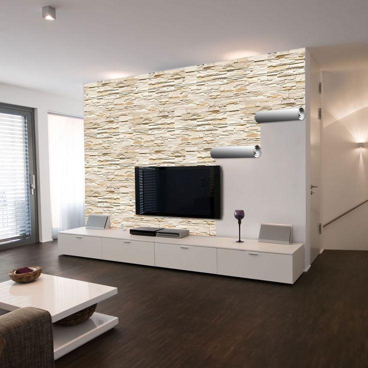 die besten 25+ natursteinwand wohnzimmer ideen auf pinterest ... - Wohnzimmer Ideen Wandgestaltung Grau