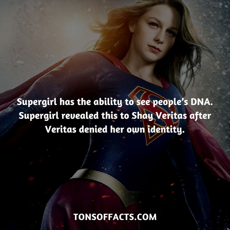 She has the ability to see people's DNA. Supergirl revealed this to Shay Veritas after Veritas denied her own identity. #supergirl #tvshow #justiceleague #comics #dccomics #interesting #fact #facts #trivia #superheroes #memes #1 #movies #superman