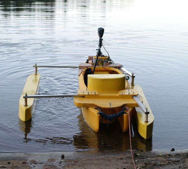 diy canoe stabilizer | Brian's Folding Outriggers for Motorized Kayak | THE FISHING KAYAK ...