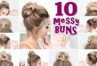 10 coiffures MESSY BUN pour la rentrée scolaire, la fête, tous les jours tutor Tutoriel de coiffure simple et rapide - #aujourd'hui # styles de coiffure #messy #partie #quick