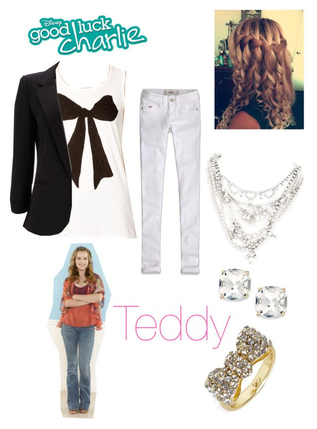 """""""Teddy Duncan"""" by sophia231 ❤ liked on Polyvore featuring Forever 21, Wallis, BaubleBar, Tom Binns, Kate Spade and Hollister Co."""