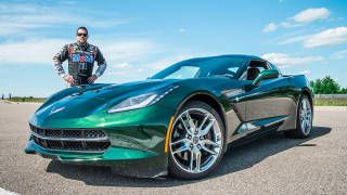 Road & Track Magazine: Tony Stewart hammers the 2014 Corvette Stingray on GM's bonkers test track  http://www.roadandtrack.com/car-reviews/first-drives/performance-tests-first-drives-proud-americans-65-2-roa0913
