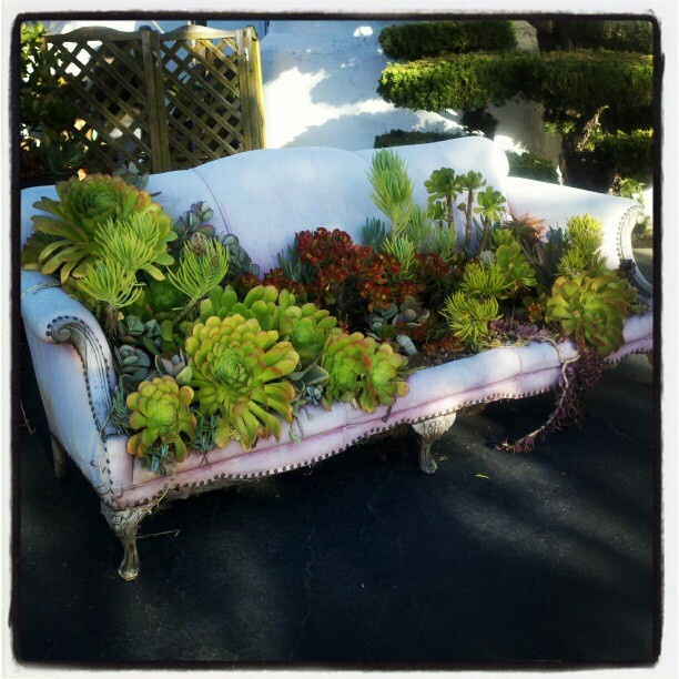 144 best images about recycled art furniture on for Recycled garden furniture ideas