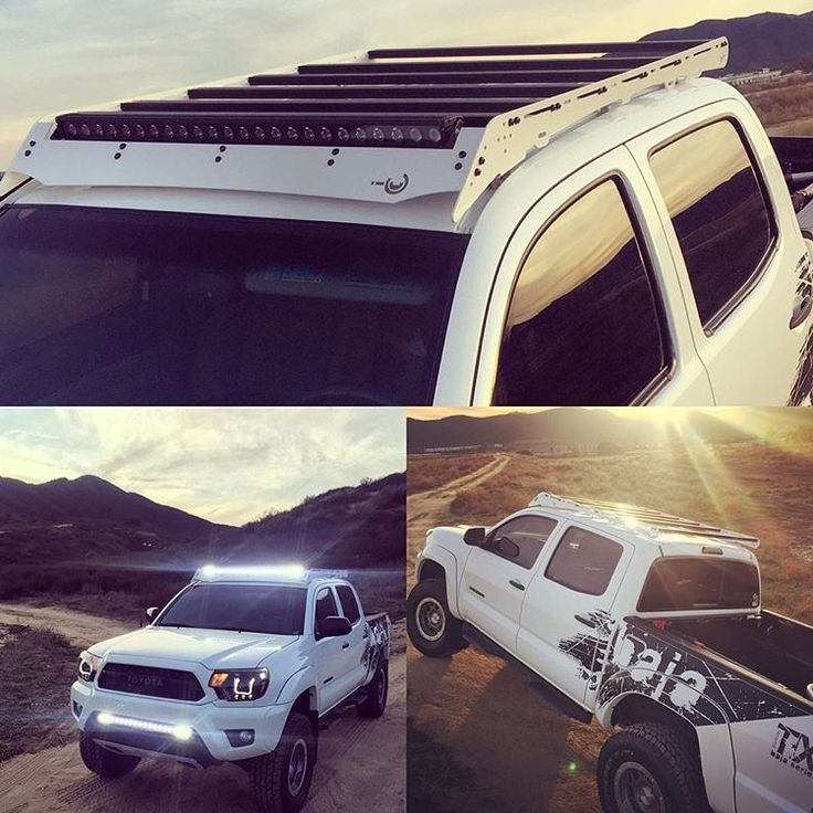 Did I mention we can do custom colors on our roof racks? @bajatxpro shows off his super white Tacoma with color matched rack.  #tacoma #tacomaworld #toyota #letsgoplaces #prinsusquad
