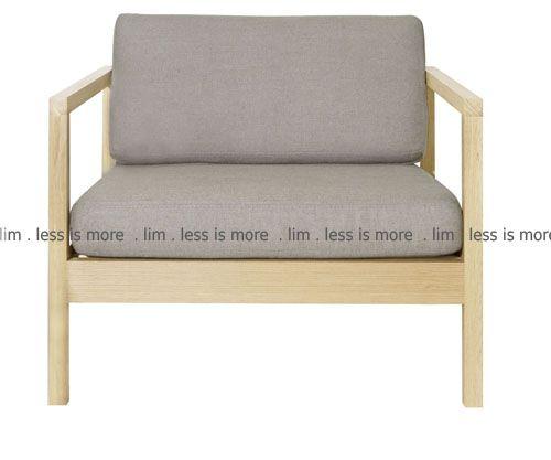H2. 11ch/oak - Solid raw oak frame with loose cushions