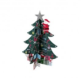De ultieme kerst advent kalender van het Engelse merk Meri Meri: een kerstboom waarin de kerstman de boom versiert. Inclusief een grote rode envelop om hem te verzenden. Gemaakt van stevig karton, daardoor steeds weer te gebruiken.