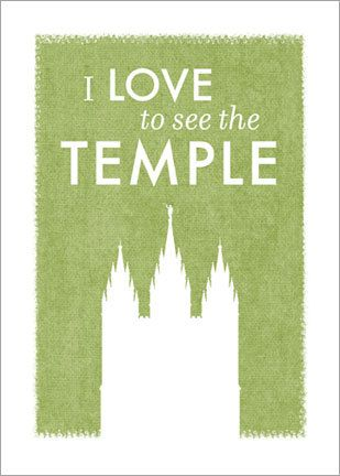 LDS Temple Print printable file - I Love to See the Temple (SLC temple). via Etsy.