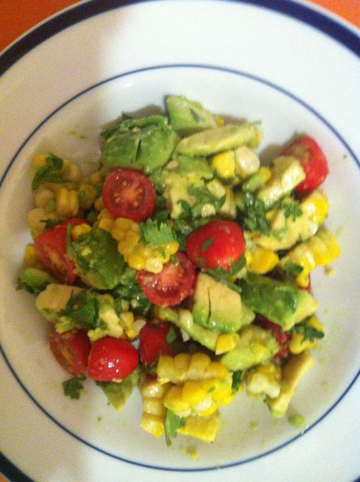 Fresh corn, avocado and tomato salad | Salads | Pinterest