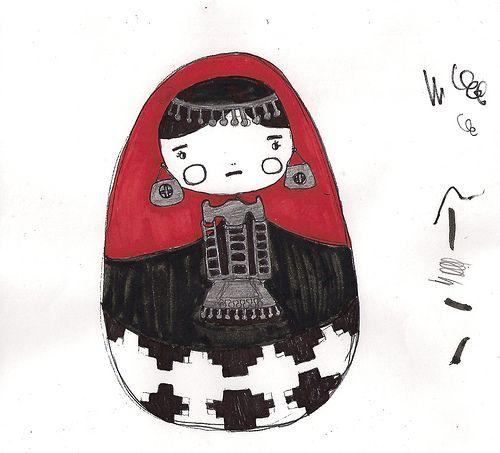 Boceto Matrioska Mapuche