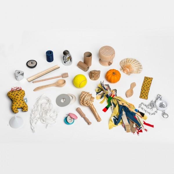 Sensory basket for children- @Katie Schmeltzer Fox Craft
