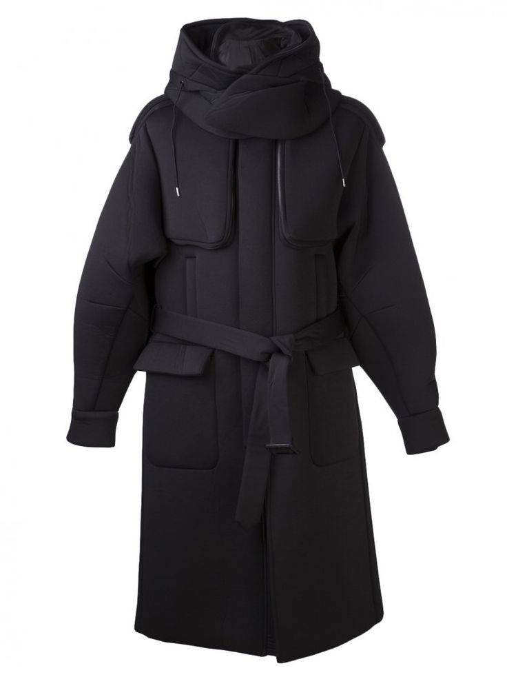JUUN J - Padded Funnel Neck Coat - JC3C319HM5 BLACK - H. Lorenzo
