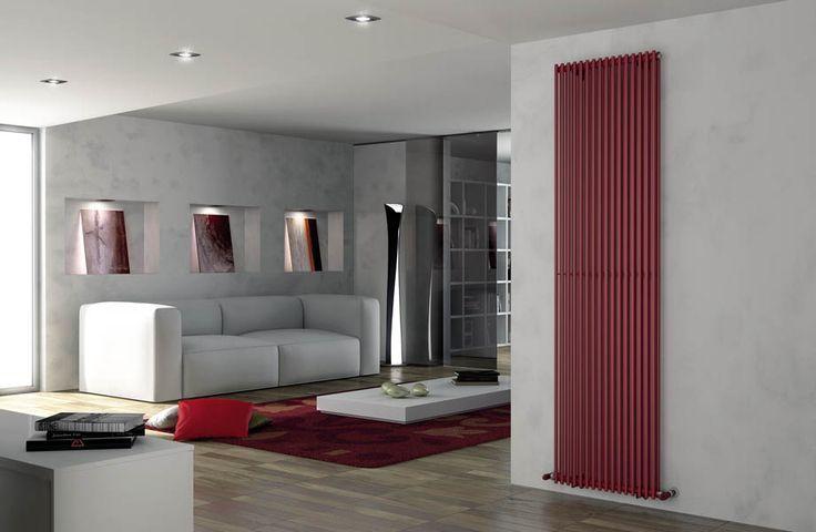 Modelo Arpa 2 Vertical de 16 elementos 2520 x 538, color Rojo fuego (Cód. 7D)