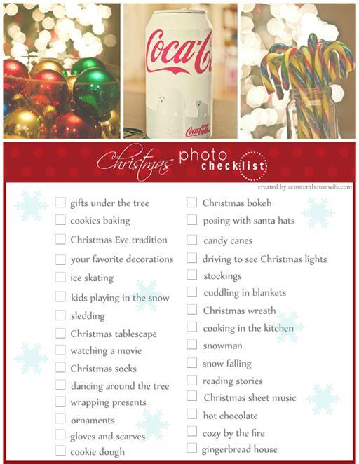 Christmas Photo Checklist 4