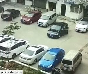 Always get out and check if your car would fit before parking