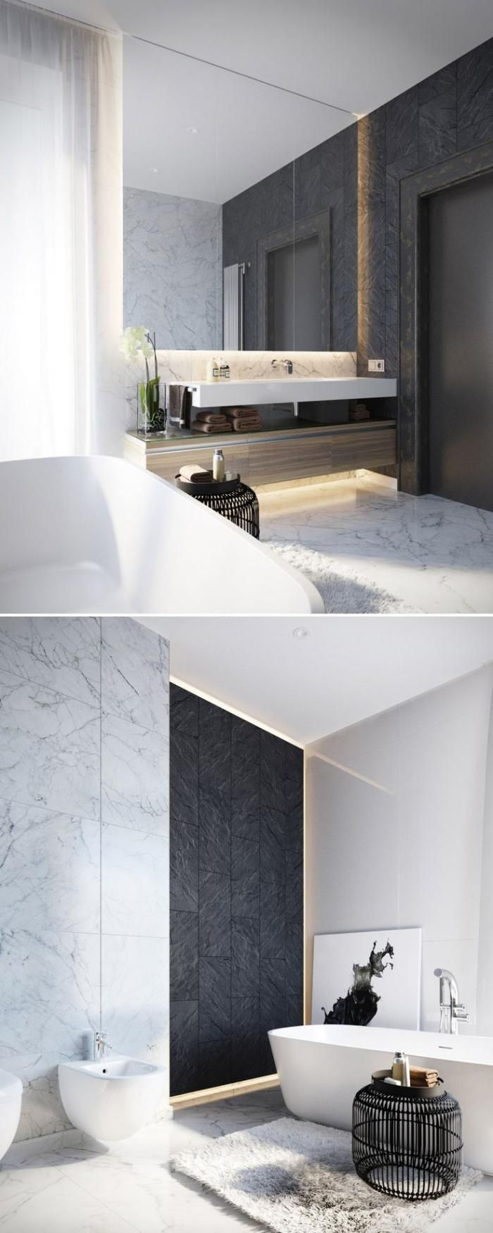 Best 25 modern vanity ideas on pinterest modern makeup - Salle de bain de reve ...
