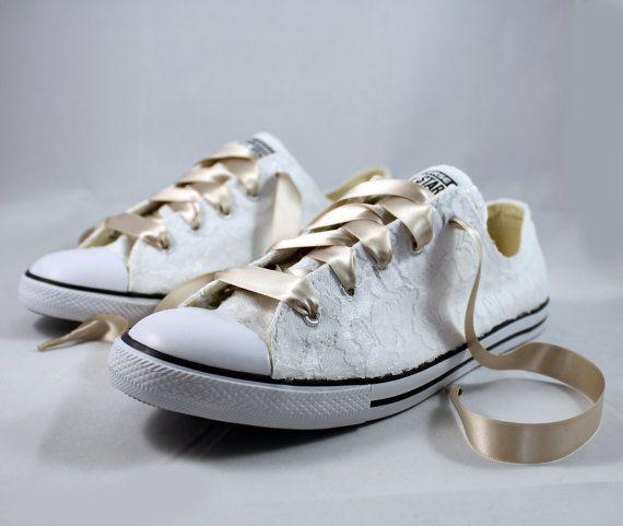 62814a161e26f Wedding Converse - Bridal Converses --Lace Converse -- Wedding ...