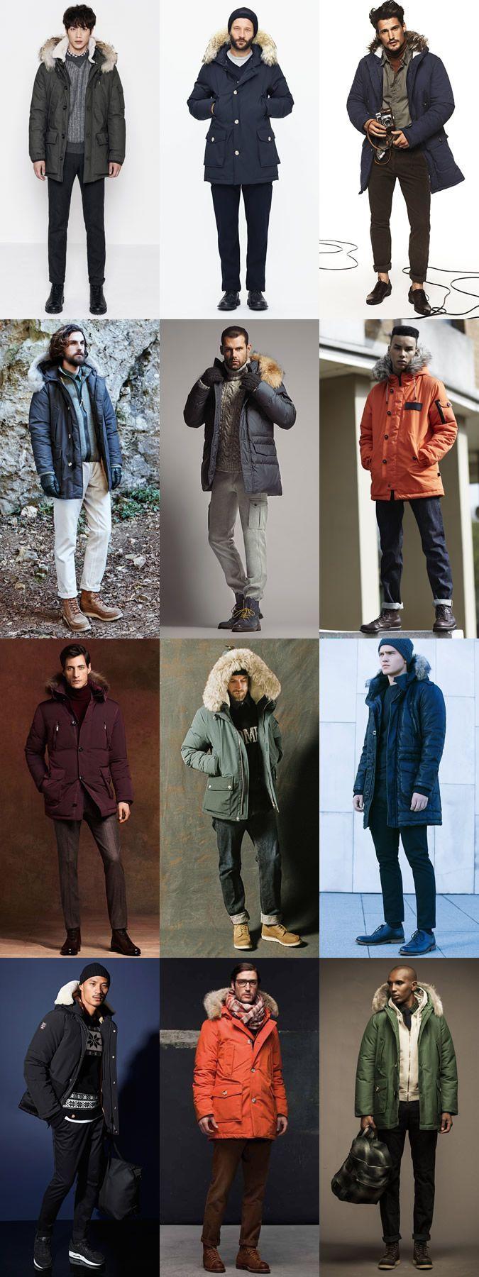 Men's Winter Parka Jackets - Winter/Apres-Ski Outfit Inspiration Lookbook