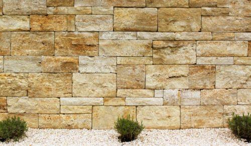 xl naturstein ambiente f r haus und garten unsere travertin gelb gartenmauer ist die optimale. Black Bedroom Furniture Sets. Home Design Ideas
