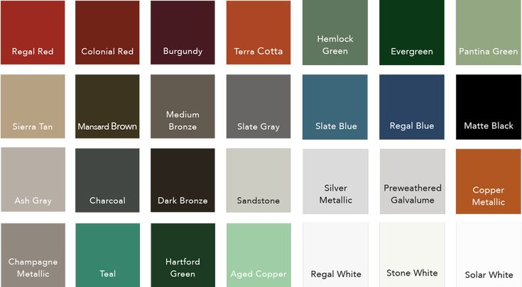 Best Standing Seam Metal Roof Colors Please Note That Colors May Vary Depending On Your Monitor S 400 x 300
