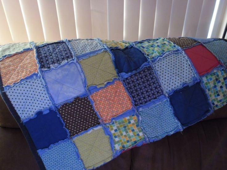 First quilt Rag Quilt, easy and fun.