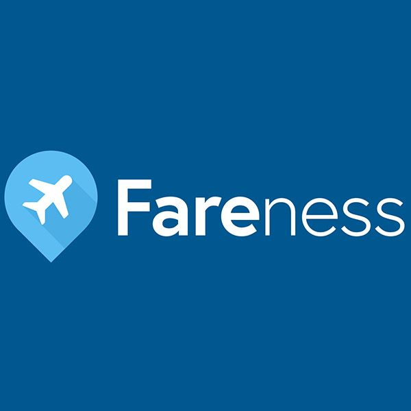 Fareness enables consumers to simultaneously browse the lowest priced round trip fares for 190+ departure dates to global destinations, with a single sub-second search, paired with an ideal hotel in just the right place in a way that's intuitive and inspirational. This is airfare comparison the way it should be - it's the missing link to being fully informed about fare options when planning and booking a trip.