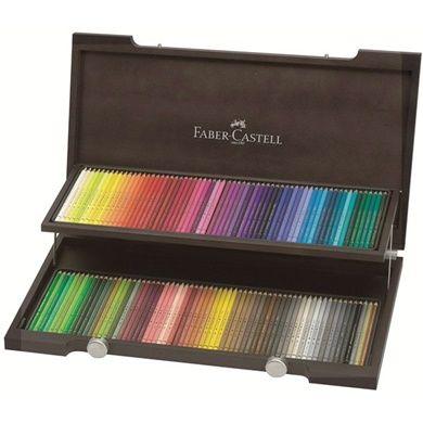 Faber-Castell Polychromos 120-set Träskrin hos Pen Store - Billiga, snabba och vassast på pennor - frakt till hela Sverige!