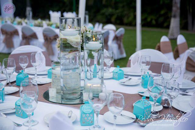 Hermoso y elegante centro de mesa con velas flotantes, ideal para tu - centros de mesa para boda con velas flotantes