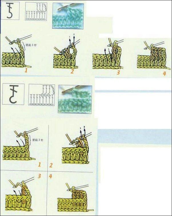 les 25 meilleures id es de la cat gorie point de crochet en relief sur pinterest crochet en. Black Bedroom Furniture Sets. Home Design Ideas