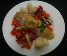 Recipe Curry and Garlic Chicken - Recipe of category Main dishes - meat